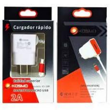 CARGADOR KOSMO MICRO USB 220V / 2A