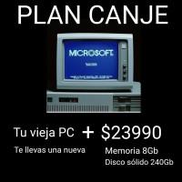PLAN CANJE PC - TU VIEJA PC + $23990 -> AMD E2 6110 / 8GB RAM / SSD 240GB / KIT