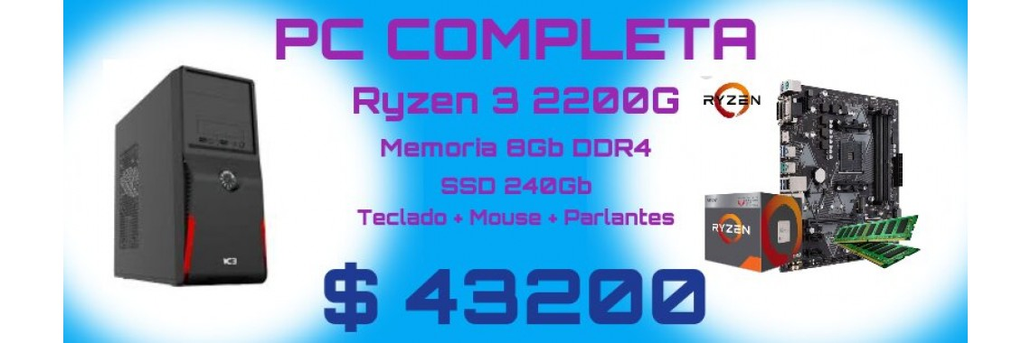 PC RYZEN 3 2200G - DDR4