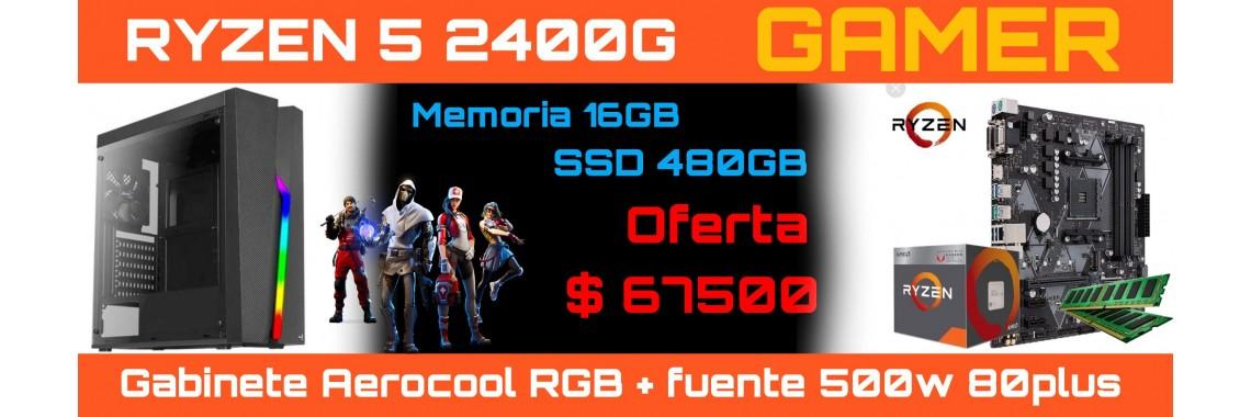PC RYZEN 5 2400G-16GB-SS