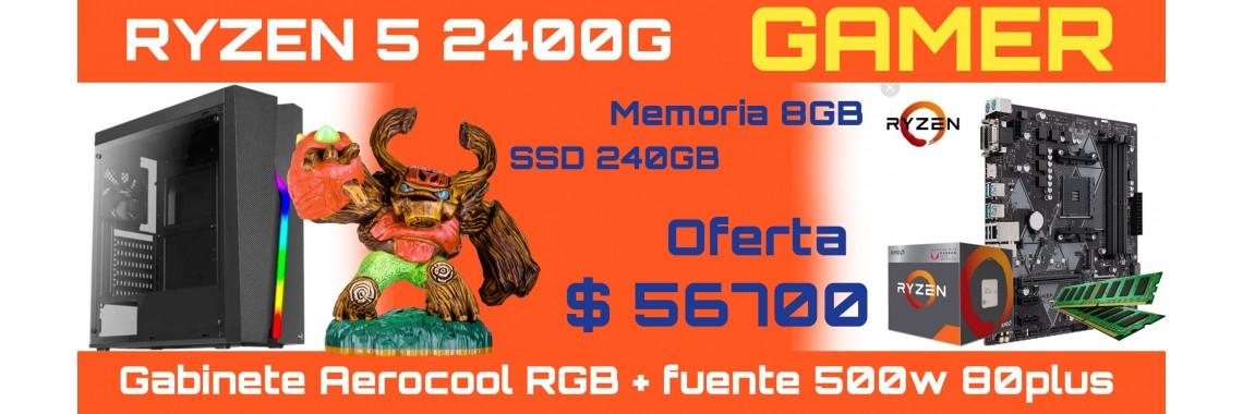 PC RYZEN 5 2400-8GB-SSD2