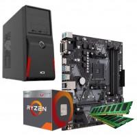 PC RYZEN 3 2200G - DDR4 8GB - SSD 240 GB - T/M/P